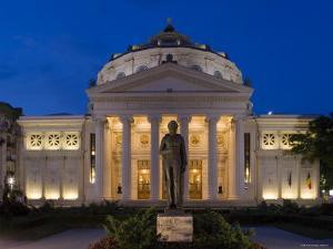 Romania, Bucharest, Piata George Enescu, Romanian Athenaeum Concert Hall by Gavin Hellier