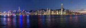 Skyline of Central, Hong Kong Island, from Victoria Harbour, Hong Kong, China, Asia by Gavin Hellier