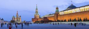 St Basils Cathedral and the Kremlin in Red Square, Moscow, Russia by Gavin Hellier