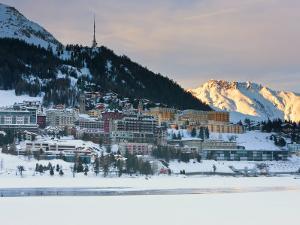 St, Moritz, Upper Engadine, Oberengadin, Graubunden Region, Swiss Alps, Switzerland, Europe by Gavin Hellier