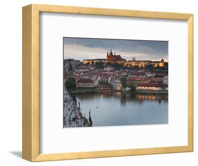 St Vitus Cathedral, Charles Bridge, River Vltava, UNESCO World Heritage Site, Prague Czech Republic