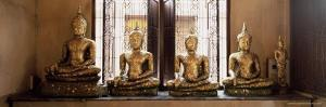 Statues of the Buddha Covered in Gold Leaf, Bangkok, Thailand, Southeast Asia, Asia by Gavin Hellier