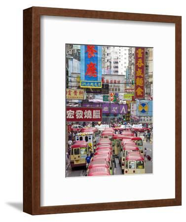Street Scene and Mini Bus Station, Mong Kok, Kowloon, Hong Kong, China, Asia