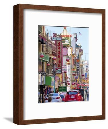 Street Scene in China Town Section of San Francisco, California, United States of America, North Am