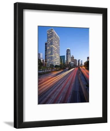 The 110 Harbour Freeway and Downtown Los Angeles Skyline, California, United States of America, Nor