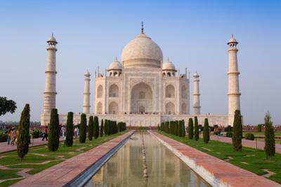 The Taj Mahal, UNESCO World Heritage Site, Agra, Uttar Pradesh, India, Asia
