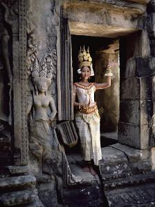 Traditional Cambodian Apsara Dancer, Siem Reap Province, Cambodia by Gavin Hellier