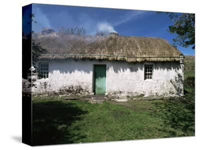 Traditional Thatched Cottage Near Glencolumbkille, County Donegal, Ulster, Eire