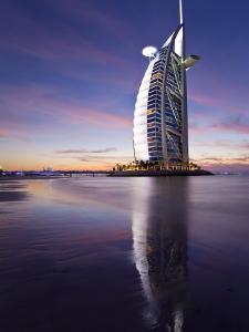 United Arab Emirates (UAE), Dubai, the Burj Dubai Hotel at Night by Gavin Hellier