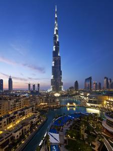 United Arab Emirates (UAE), Dubai, the Burj Khalifa at Night by Gavin Hellier