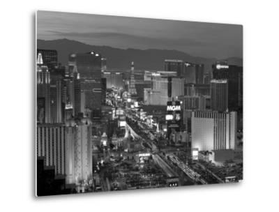 United States of America, Nevada, Las Vegas, Elevated Dusk View of the Hotels and Casinos Along the