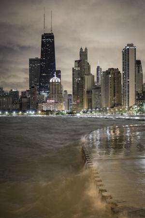Usa, Illinois, Chicago, the Hancock Tower and Downtown Skyline from Lake Michigan by Gavin Hellier