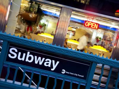 USA, New York City, Diner in Midtown Manhattan