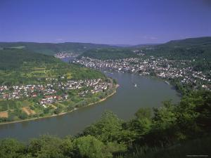 View from Vierseenbick Viewpoint, Rhine River, Rhineland-Palatinate, Germany, Europe by Gavin Hellier