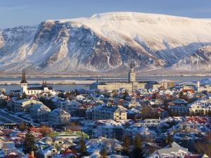 View over Reykjavik in Winter, Iceland by Gavin Hellier