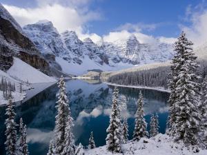 Wenkchemna Peaks and Moraine Lake, Banff National Park, Alberta, Canada by Gavin Hellier