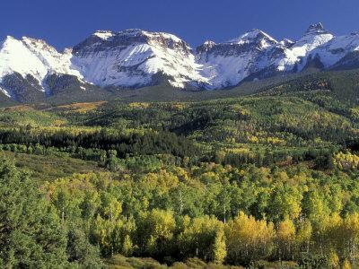 Fall Color and Landscape, Mt. Sneffels Wilderness, Colorado, USA