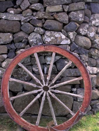 Rural Stone Wall and Wheel, Kilmuir, Isle of Skye, Scotland by Gavriel Jecan
