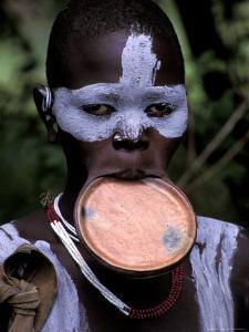 Surma Tribesmen with Lip Plate, Ethiopia by Gavriel Jecan