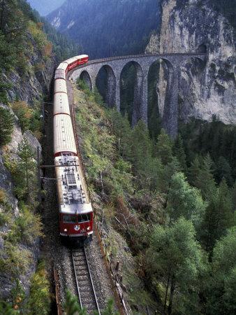 Tall Rock Bridge, Bernina, Switzerland