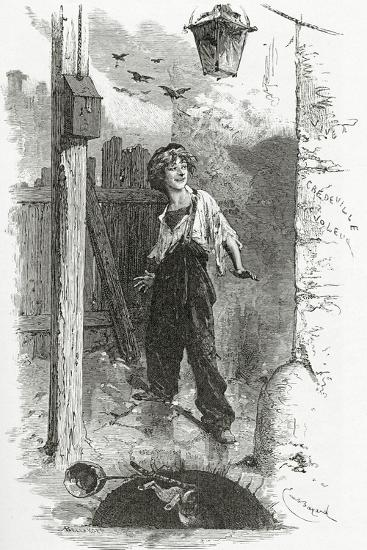 Gavroche, 19th Century-Emile Antoine Bayard-Giclee Print