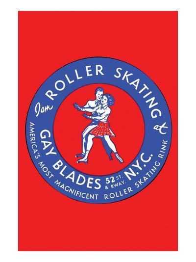 Gay Blades Roller Skating Nyc--Art Print