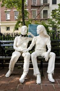 Gay Liberation Monument in Christopher Park, Greenwich Village, New York