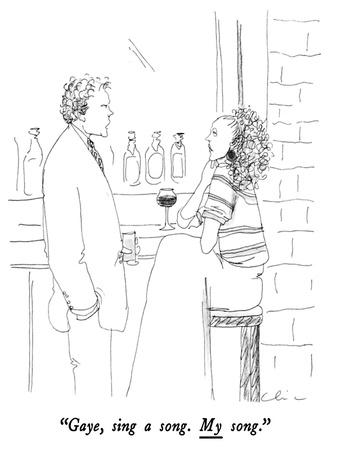 """Gaye, sing a song.  My song."" - New Yorker Cartoon-Richard Cline-Premium Giclee Print"