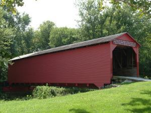 Allaman Covered Bridge in Henderson County, north of Nauvoo, Illinois, USA by Gayle Harper