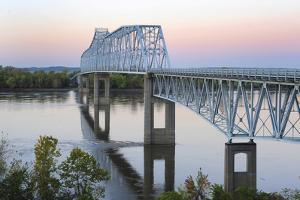 Bridge over the Mississippi River at Chester, Illinois by Gayle Harper