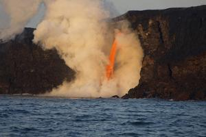 Kilauea volcano, Big Island, Hawaii. A rare lava flow formation called a fire hose by Gayle Harper