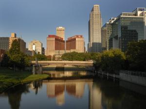 Skyline of Downtown, Omaha, Nebraska by Gayle Harper
