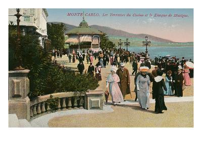 Gazebo and Casino, Monte Carlo, Monaco--Art Print