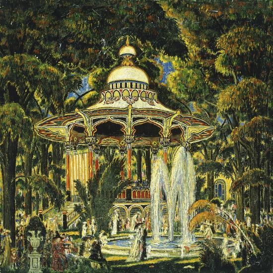 Gazebo in Central Park-Edward Middleton Manigault-Giclee Print
