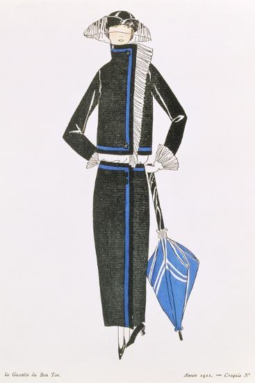 """""""Gazette Du Bon Ton""""; No.4, Afternoon Dress, 1922--Giclee Print"""