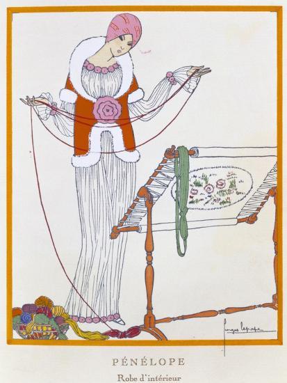Gazette Du Bon Ton, Penelope, House Dress, 1920--Giclee Print