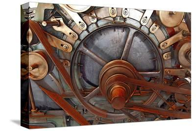 Gears And Pulleys--Stretched Canvas Print