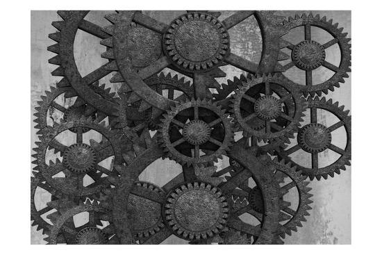 Gears In Motion-Sheldon Lewis-Art Print