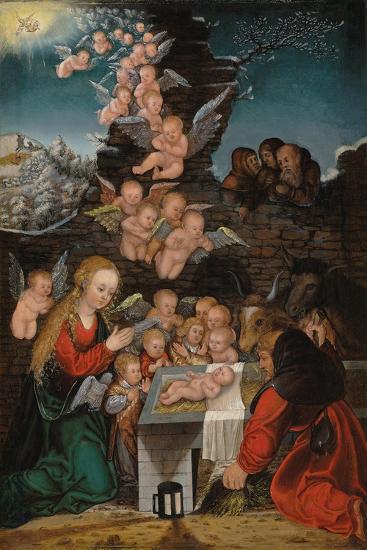 Geburt Christi-Lucas Cranach d.Ä.-Giclee Print
