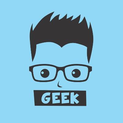 Geek Cartoon Character-vector1st-Art Print