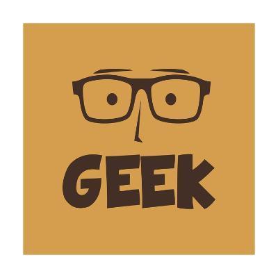 Geek Guy-vector1st-Art Print