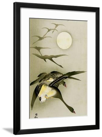 Geese and the Moon-Koson Ohara-Framed Giclee Print