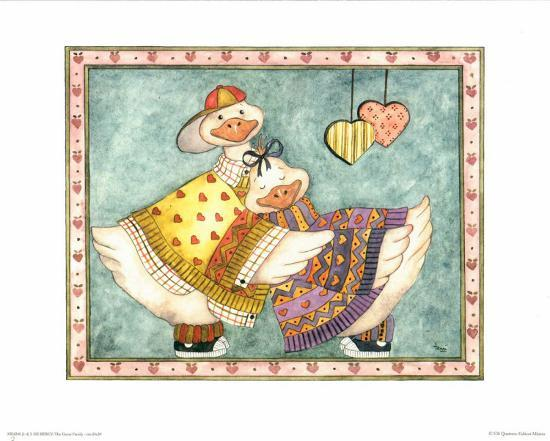 Geese Family II-Isabelle De Bercy-Art Print
