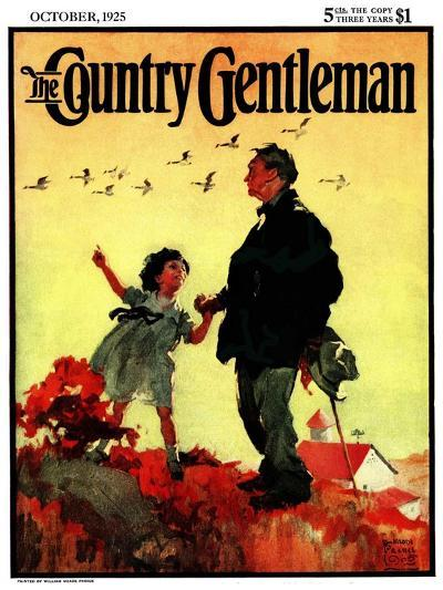 """Geese Flying South,"" Country Gentleman Cover, October 1, 1925-William Meade Prince-Giclee Print"