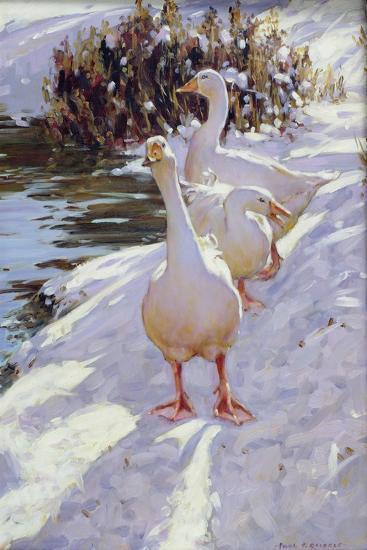 Geese in Snow-Paul Gribble-Giclee Print