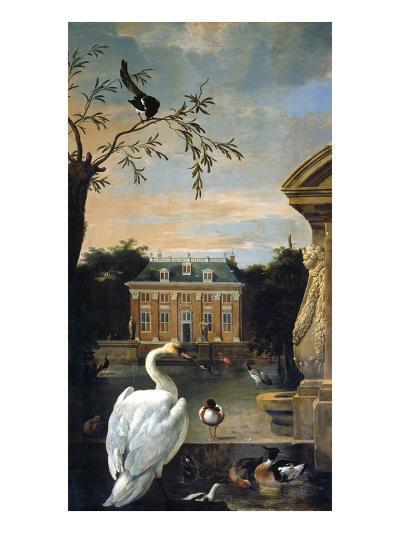 Gefluegel Im Hofe Eines Landhauses-Melchior d'Hondecoeter-Giclee Print