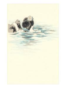 Geisha Bathing in River