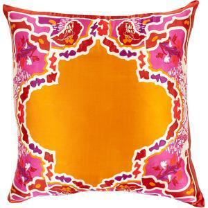 Geisha Down Fill Pillow - Tangerine
