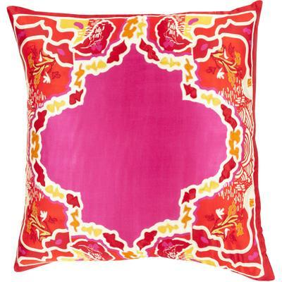 Geisha Poly Fill Pillow - Magenta