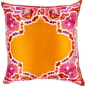 Geisha Poly Fill Pillow - Tangerine